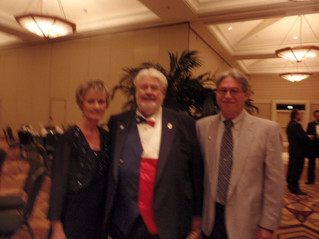Gary Denny, IFA with NAIFA President Wayne Mayo and incoming president Monica Trotter